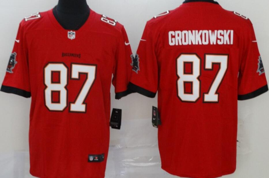 Men's Tampa Bay Buccaneers #87 Rob Gronkowski Red 2020 Vapor Limited Stitched NFL Nike Jersey