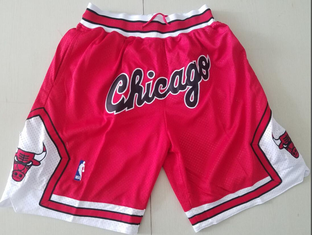 Chicago Bulls Red with Chicago JUST DON Shorts