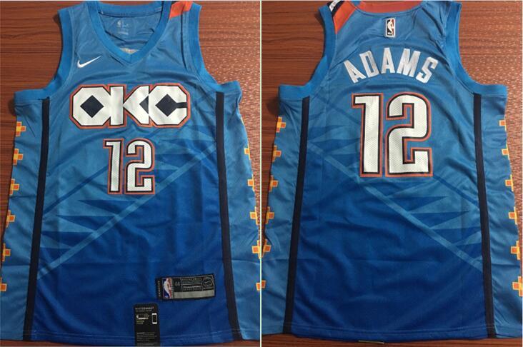 Oklahoma City Thunder #12 Steven Adams Blue City Edition NBA Swingman Jersey