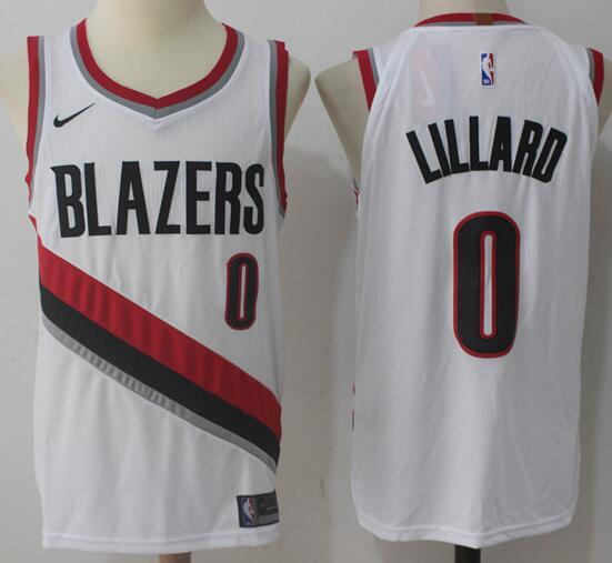 Portland Trail Blazers #0 Damian Lillard White Nike NBA Men's Stitched Swingman Jersey