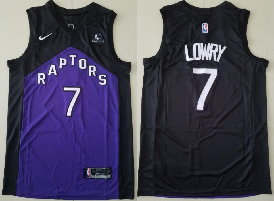 Men's Toronto Raptors #7 Kyle Lowry 2021 Purple And Black Earned Edition Nike Swingman Basketball Jersey