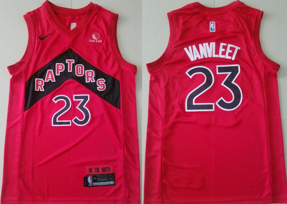 Men's Toronto Raptors #23 Fred Vanvleet 2021 Red Icon Edition Nike Swingman Basketball Jersey