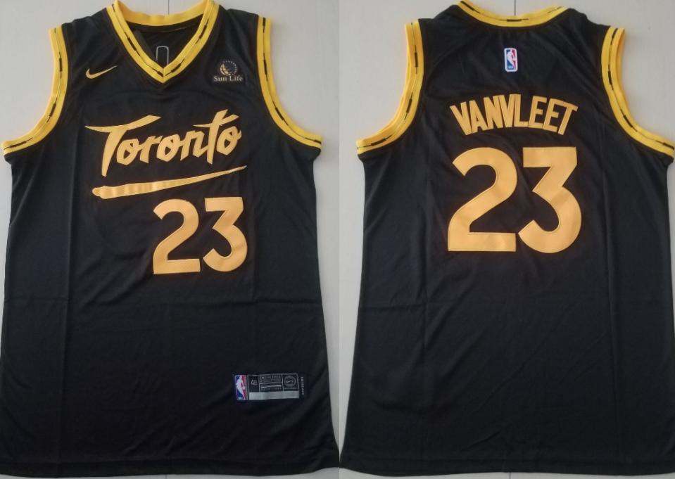 Men's Toronto Raptors #23 Fred Vanvleet Black 2021 Nike City Edition Swingman Jersey With The Sponsor Logo