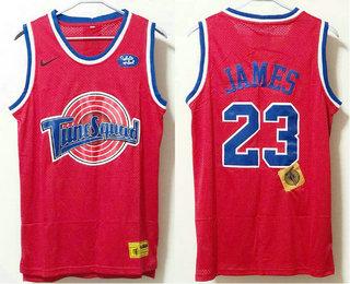 Men's The Movie Space Jam #23 LeBron James Red Soul Swingman Basketball Jersey