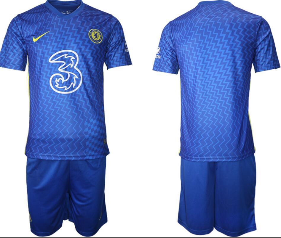 2021-22 Chelsea FC Home Soccer Men's Black Shirt Kit