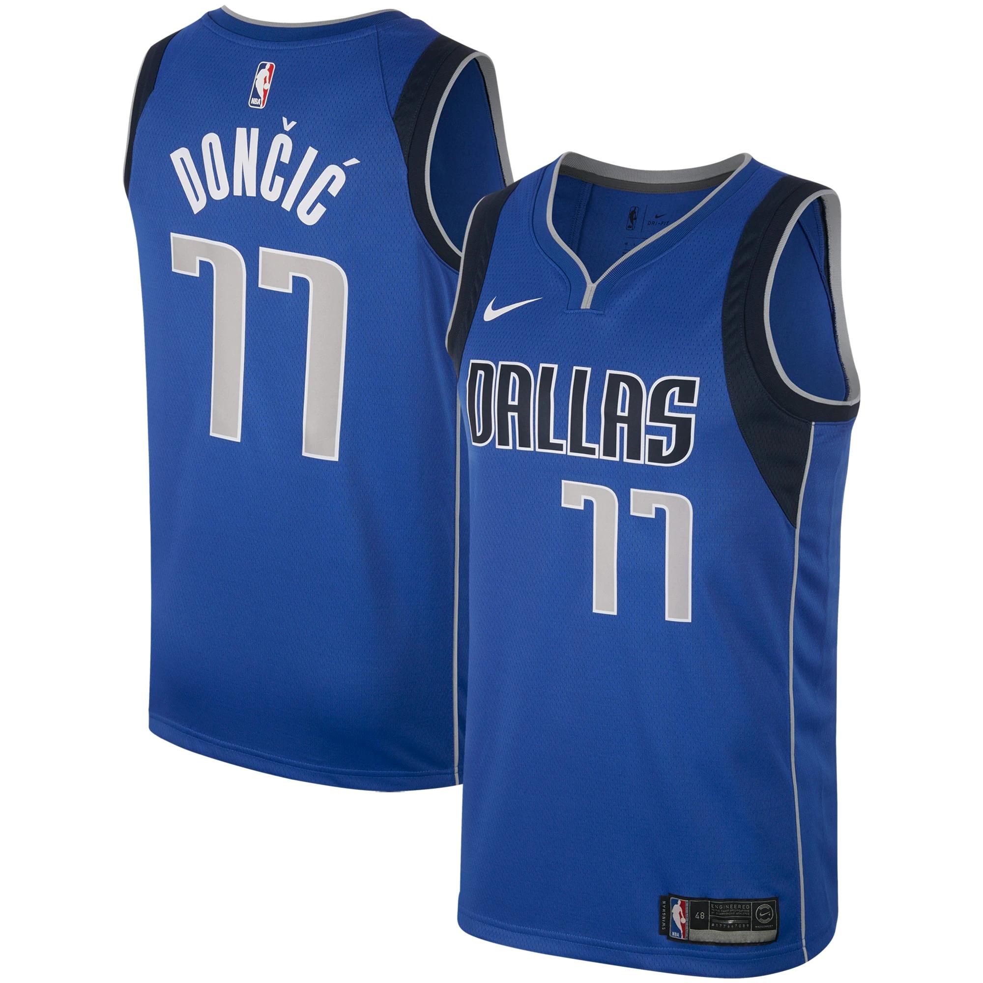 Women's Dallas Mavericks #77  Luka Doncic Royal Blue Nike Swingman Basketball Jersey