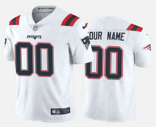 Men's New England Patriots Custom White 2020 NEW Vapor Untouchable Stitched NFL Nike Limited Jersey