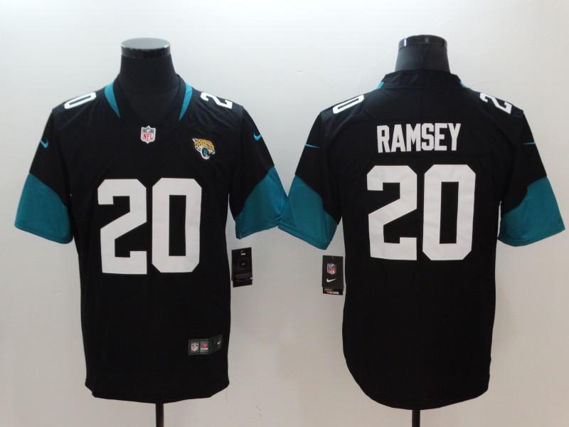 Men's Jacksonville Jaguars #20 Jalen Ramsey Black 2019 Vapor Untouchable Stitched NFL Nike Limited Jersey
