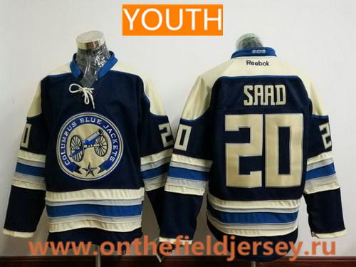 Youth Columbus Blue Jackets #20 Brandon Saad Royal Blue Third Stitched NHL Reebok Hockey Jersey