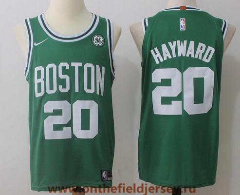 Men's Boston Celtics #20 Gordon Hayward Green 2017-2018 Nike Swingman General Electric Stitched NBA Jersey