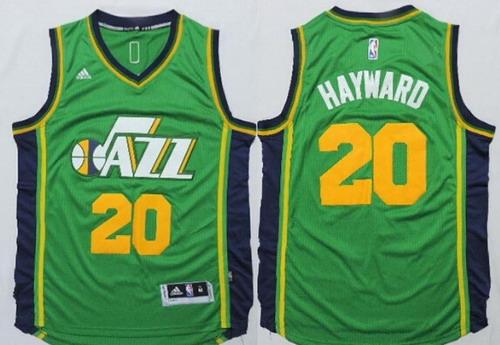 Utah Jazz #20 Gordon Hayward Revolution 30 Swingman New Green Swingman Jersey