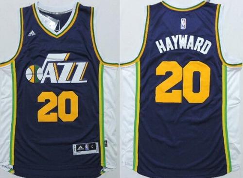 Utah Jazz #20 Gordon Hayward Revolution 30 Swingman New Navy Blue Swingman Jersey
