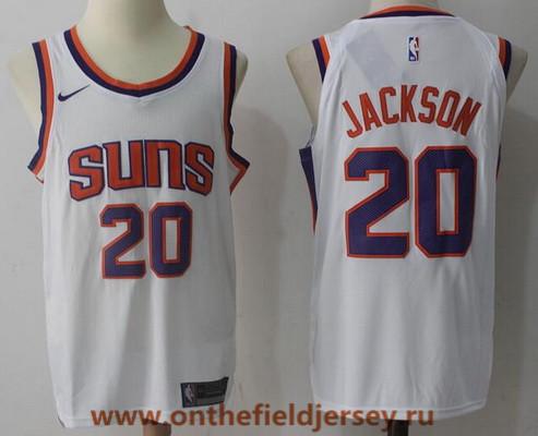 Men's Phoenix Suns #20 Josh Jackson New White 2017-2018 Nike Swingman Stitched NBA Jersey
