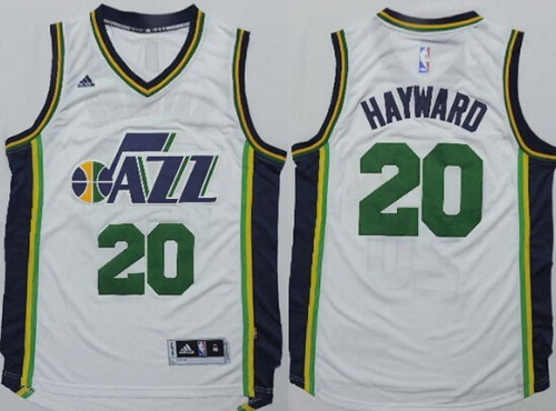 Utah Jazz #20 Gordon Hayward Revolution 30 Swingman New White Swingman Jersey