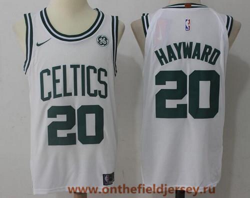 Men's Boston Celtics #20 Gordon Hayward White 2017-2018 Nike Swingman General Electric Stitched NBA Jersey