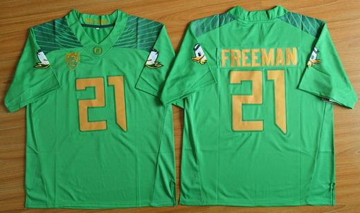 Men's Oregon Ducks #21 Royce Freeman Light Green College Football Nike Limited Jersey