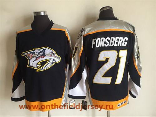 Men's Nashville Predators #21 Filip Forsberg Navy Blue 1998-99 Throwback Stitched NHL CCM Vintage Hockey Jersey