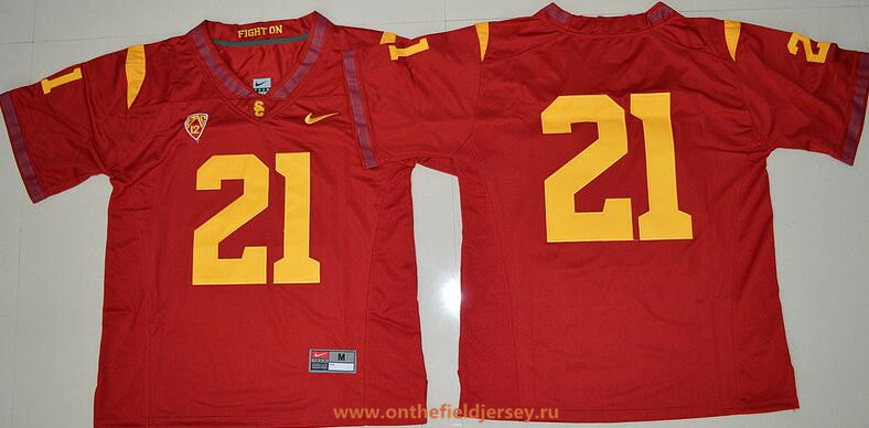Men's USC Trojans #21 Adoree' Jackson Red Limited Stitched College Football 2016 Nike NCAA Jersey