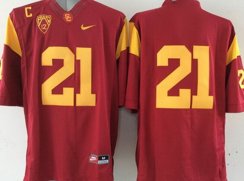 Men's USC Trojans #21 Su'a Cravens Red 2015 College Football Nike Limited Jersey