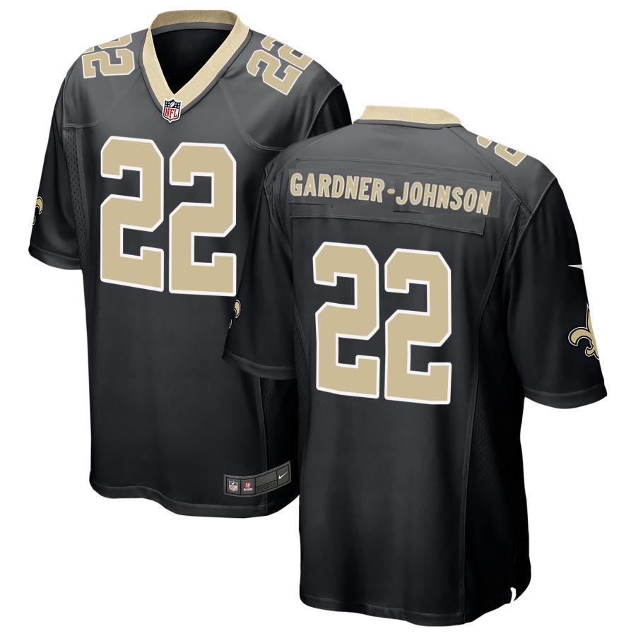 Men's New Orleans Saints #22 Chauncey Gardner-Johnson Black Stitched NFL Nike Game Jersey