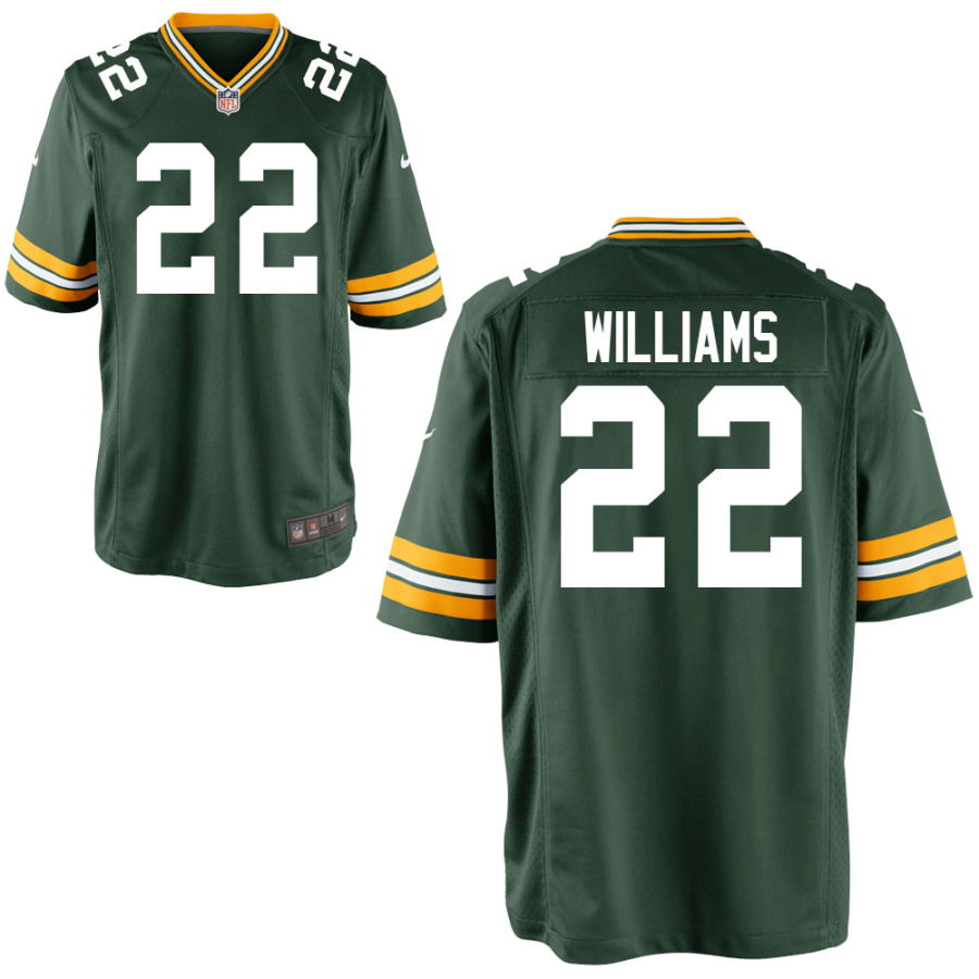 Men's Green Bay Packers #22 Dexter Williams Green Stitched NFL Nike Game Jersey