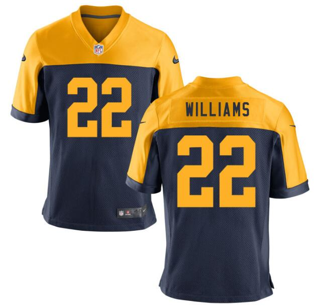 Men's Green Bay Packers #22 Dexter Williams Navy Blue Stitched NFL Nike Game Jersey