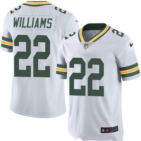 Men's Green Bay Packers #22 Dexter Williams White Road Stitched NFL Nike Game Jersey