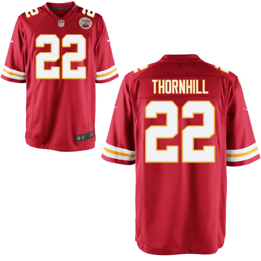 Men's Kansas City Chiefs #22 Juan Thornhill Red Stitched NFL Nike Game Jersey