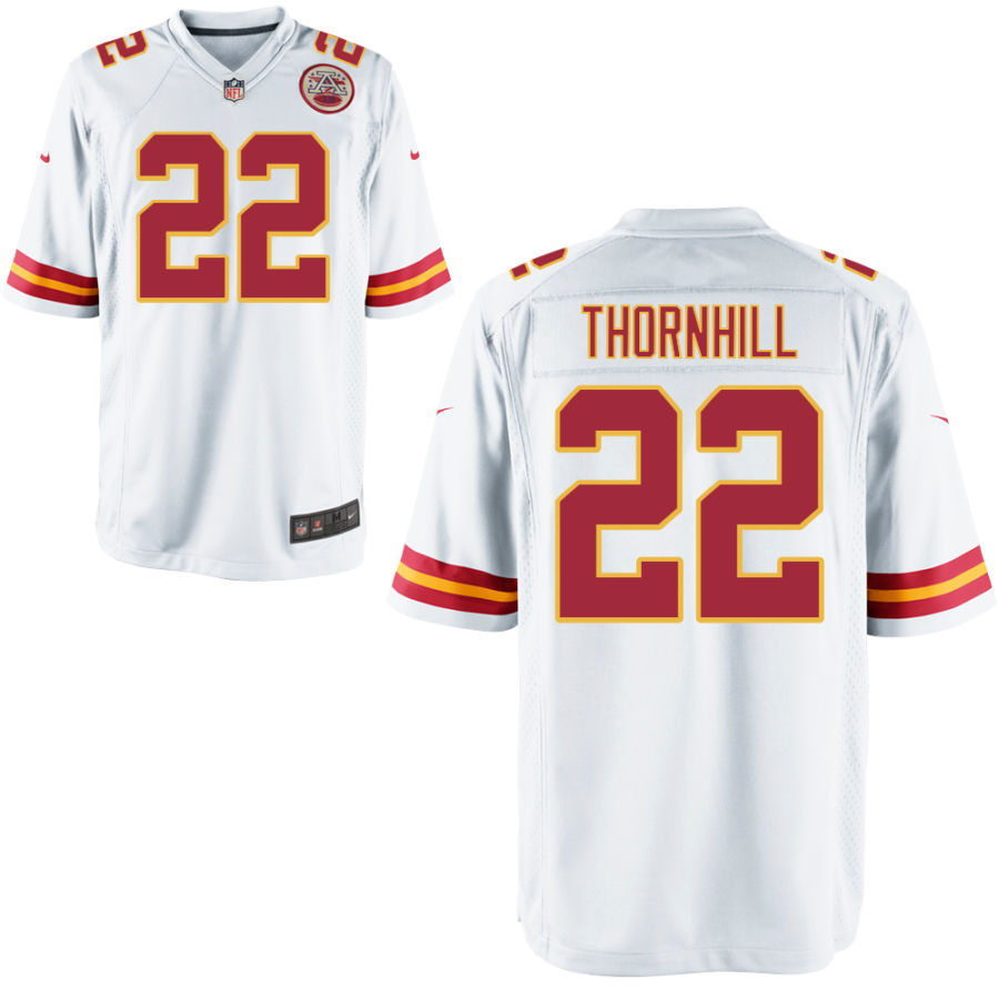Men's Kansas City Chiefs #22 Juan Thornhill White Road Stitched NFL Nike Game Jersey
