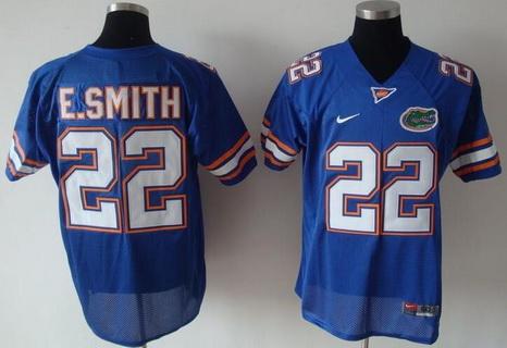 Men's Florida Gators #22 Emmitt Smith Blue College Football Nike Limited Jersey
