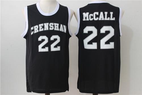 Men's The Movie Love & Basketball #22 Quincy McCall Black Soul Swingman Basketball Jersey