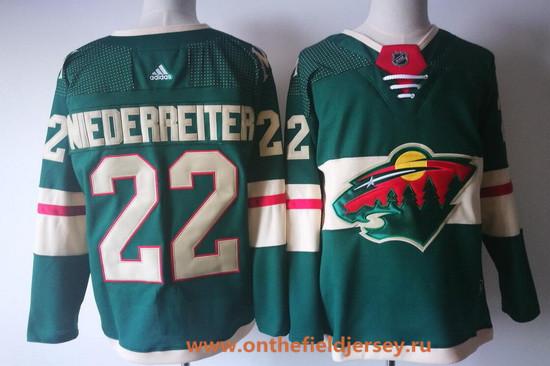 Men's Minnesota Wild #22 Nino Niederreiter Home 2017-2018 Adidas Hockey Stitched NHL Jersey