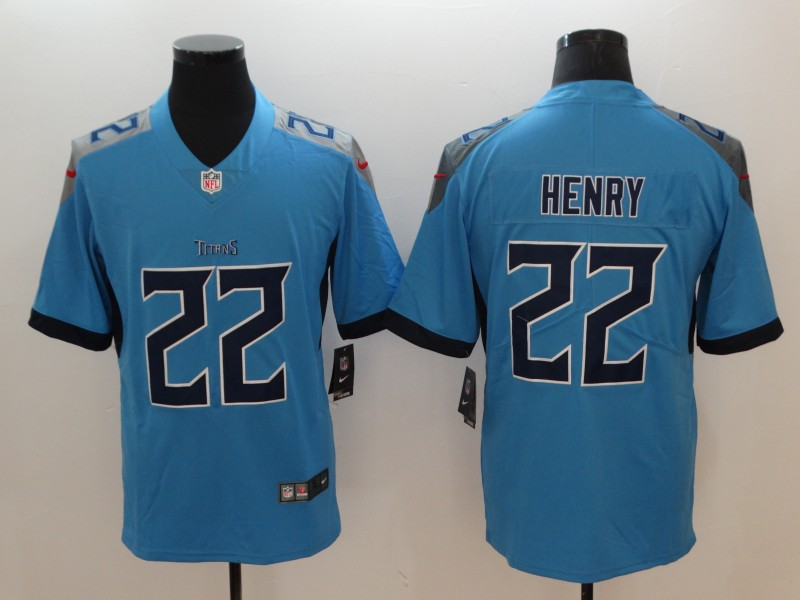 Men's Tennessee Titans #22 Derrick Henry Light Blue 2019 Vapor Untouchable Stitched NFL Nike Limited Jersey