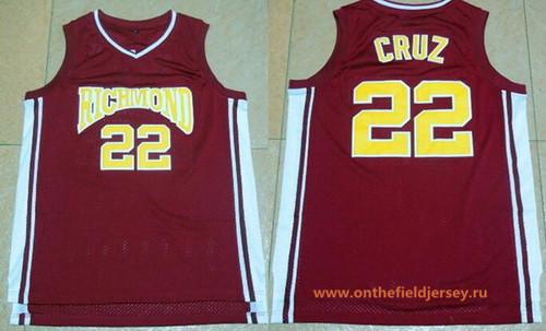 Men's The Movie Richmond Oilers #22 Timo Cruz Red Soul Swingman Basketball Jersey