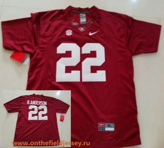 Men's Alabama Crimson Tide #22 Ryan Anderson Red Stitched NCAA 2016 Nike College Football Jersey