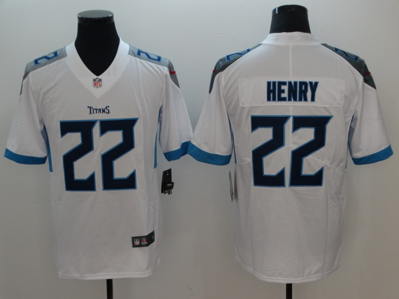 Men's Tennessee Titans #22 Derrick Henry White 2019 Vapor Untouchable Stitched NFL Nike Limited Jersey