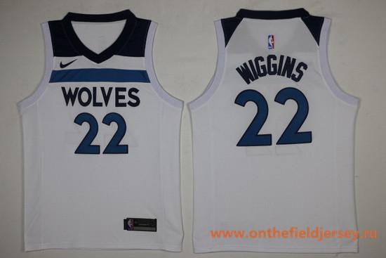 Men's Minnesota Timberwolves #22 Andrew Wiggins White 2017-2018 Nike Swingman Stitched NBA Jersey