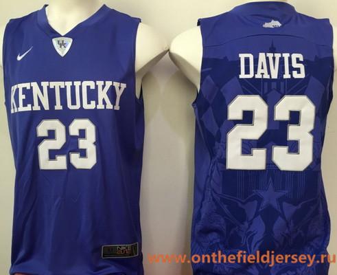 Men's Kentucky Wildcats #23 Anthony Davis Royal Blue College Basketball Stitched NCAA 2016 Nike Swingman Jersey