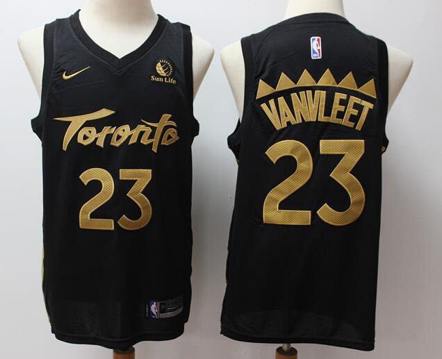 Men's Toronto Raptors #23 Fred VanVleet Black 2020 City Edition Nike Swingman Stitched NBA Jersey