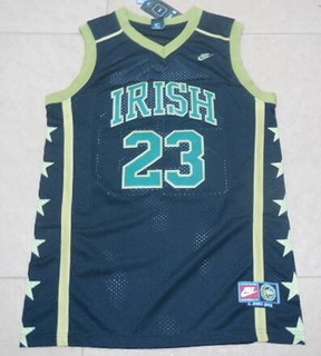 Men's The Fighting Irish #23 Lebron James Black Soul Swingman High School Basketball Jersey