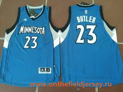 Men's Minnesota Timberwolves #23 Jimmy Butler Blue Stitched NBA adidas Revolution 30 Swingman Jersey