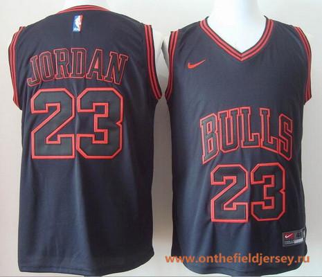 Men's Chicago Bulls #23 Michael Jordan 2017 Black Chicago Fashion Stitched NBA Nike Basketball Jersey