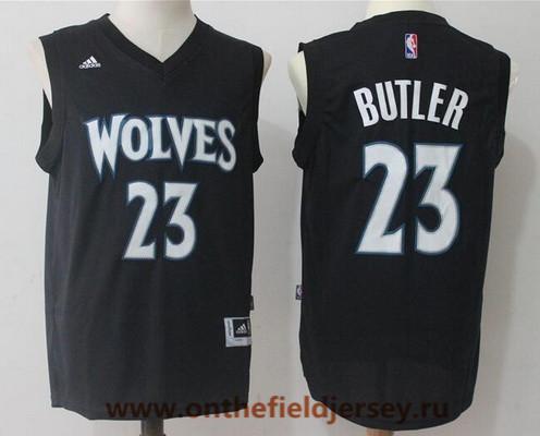 Men's Minnesota Timberwolves #23 Jimmy Butler All Black Stitched NBA adidas Revolution 30 Swingman Jersey