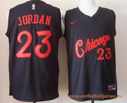 Men's Chicago Bulls #23 Michael Jordan 2017 Black Bulls Fashion Stitched NBA Nike Basketball Jersey