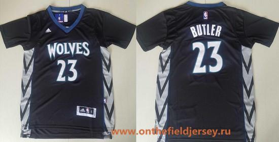Men's Minnesota Timberwolves #23 Jimmy Butler Black Short-Sleeved Stitched NBA adidas Revolution 30 Swingman Jersey