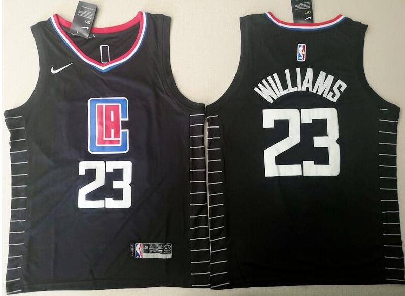 Men's Los Angeles Clippers #23 Lou Williams Black Nike Swingman Stitched NBA Jersey
