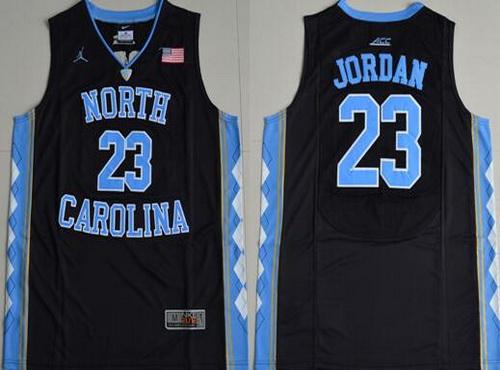 Men's North Carolina Tar Heels #23 Michael Jordan 2016 Black Swingman College Basketball Jersey