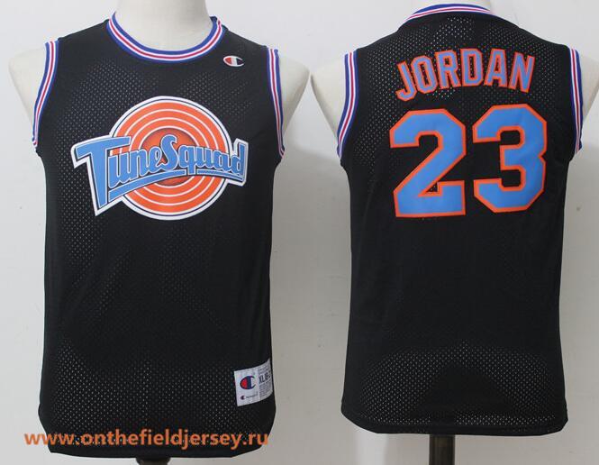 Youth The Movie Space Jam #23 Michael Jordan Black Soul Swingman Basketball Jersey