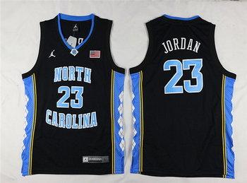 Youth North Carolina Tar Heels #23 Michael Jordan Black Soul Swingman College Basketball Jersey
