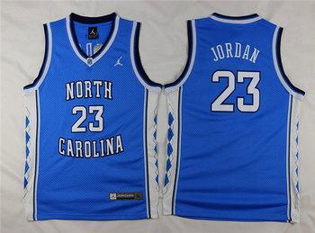 Youth North Carolina Tar Heels #23 Michael Jordan Light Blue Soul Swingman College Basketball Jersey